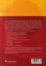 Guide néret droit des personnes handicapées (édition 2007) - 4ème de couverture - Format classique