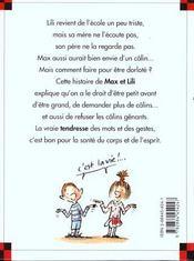 Max et Lili veulent des câlins - 4ème de couverture - Format classique