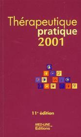 Thérapeutique pratique (édition 2001) - Intérieur - Format classique
