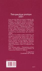 Thérapeutique pratique (édition 2001) - 4ème de couverture - Format classique