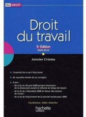 Droit du travail (édition 2009/2010) - Couverture - Format classique