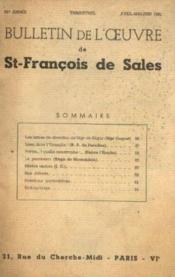 Bulletin de l'oeuvre de st françois de Sales, 92e année, avril mai juin - Couverture - Format classique