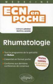Rhumatologie Tout Le Programme En Fiches L'Essentiel En Format Poche - Couverture - Format classique