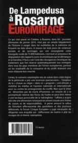De Lampedusa à Rosarno : euromirage - 4ème de couverture - Format classique