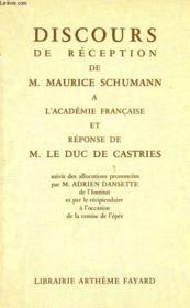 Discours De Reception . - Couverture - Format classique