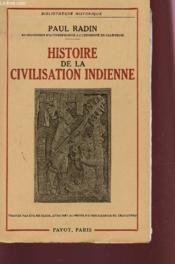 Histoire De La Civilisation Indienne. - Couverture - Format classique