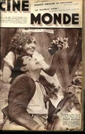 CINEMONDE - 7e ANNEE - N° 314 - MAURICE CHEVALIER EN PANTOUFLES - LUI PLAIRIEZ-VOUS, ENQUETE PAR ODILE CAMBLIER - LE RETOUR DE SUZY VERNON - A TRAVERS LA FAUNE DES STUDIOS... - Couverture - Format classique