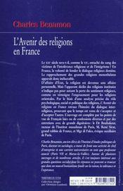 L'avenir des religions en france - 4ème de couverture - Format classique