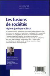 Les fusions de sociétés (édition 2017) - 4ème de couverture - Format classique