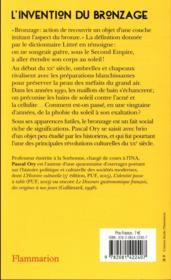 L'invention du bronzage - 4ème de couverture - Format classique