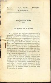 L'AVENIR - extrait de N°11 - tome II - fevrier 1917 :
