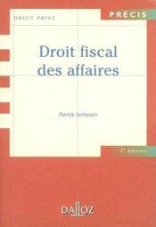 Droit Fiscal Des Affaires - Couverture - Format classique