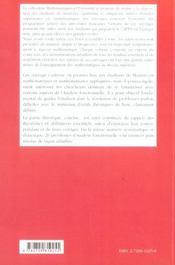 Analyse Fonctionnelle Exercices Et Problemes Corriges Niveau M1 - 4ème de couverture - Format classique