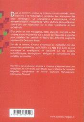 Marketing des activités tertiaires - 4ème de couverture - Format classique
