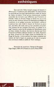 Le Tableau Et La Page - 4ème de couverture - Format classique