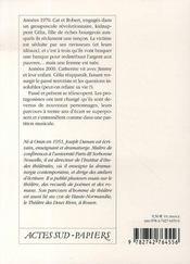 De la révolution ; septuor - 4ème de couverture - Format classique