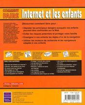 Internet Et Vos Enfants ; Comment Faire - 4ème de couverture - Format classique