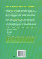 Exercices De Calcul 32. Unites De Mesure (10-12 A.) - 4ème de couverture - Format classique