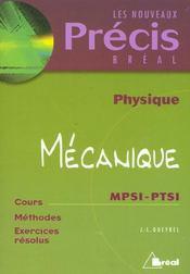 Precis physique mecanique mpsi ptsi - Intérieur - Format classique