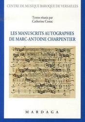 Les manuscrits autographes de marc-antoine charpentier - Intérieur - Format classique