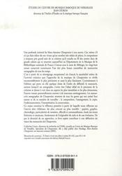 Les manuscrits autographes de marc-antoine charpentier - 4ème de couverture - Format classique