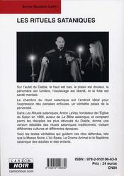 Les rituels sataniques - 4ème de couverture - Format classique