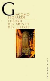 Theorie Des Arts Et Des Lettres - Couverture - Format classique