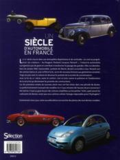 Un siècle d'automobile en France - 4ème de couverture - Format classique
