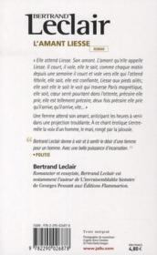 L'amant Liesse - 4ème de couverture - Format classique