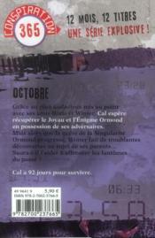Conspiration 365 T.10 ; Octobre - 4ème de couverture - Format classique