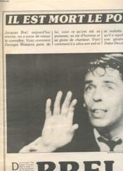 Article Du Journal Vsd - Il Est Mort Le Poete - Brel - Couverture - Format classique