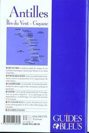Guides Bleus ; Les Antilles - 4ème de couverture - Format classique
