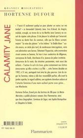 Calamity Jane - 4ème de couverture - Format classique