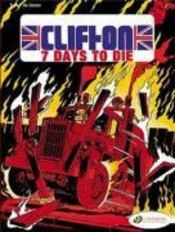 Clifton t.3 ; seven days to die - Couverture - Format classique