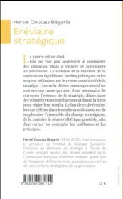 Bréviaire stratégique - 4ème de couverture - Format classique