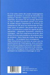 Résister aux grands projets inutiles et imposés ; de Notre-Dame-des-Landes à Bure - 4ème de couverture - Format classique
