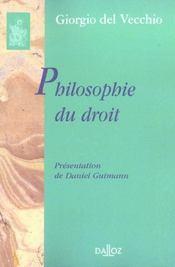 Philosophie du droit - Intérieur - Format classique