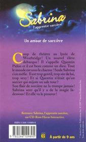 Sabrina T.5 ; Un Amour De Sorciere - 4ème de couverture - Format classique
