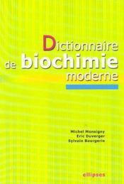 Dictionnaire De Biochimie Moderne - Intérieur - Format classique