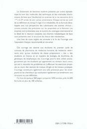 Dictionnaire De Biochimie Moderne - 4ème de couverture - Format classique