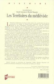 Territoires du medieviste - 4ème de couverture - Format classique