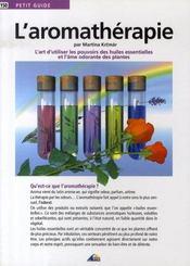 Petit Guide T.150 ; L'Aromathérapie - Intérieur - Format classique