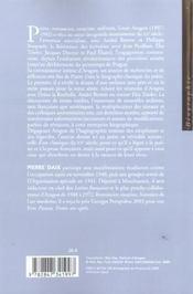 Aragon - 4ème de couverture - Format classique