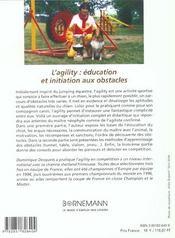 Agility education et initiation aux obstacles - 4ème de couverture - Format classique
