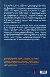 Le monde dans un carnet ; Alexander von Humboldt en Italie (1805) - 4ème de couverture - Format classique