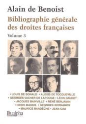 Bibliographie generale des droites francaises t3 (édition 2004) - Couverture - Format classique