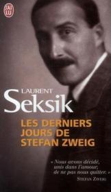 Les derniers jours de Stefan Zweig - Couverture - Format classique