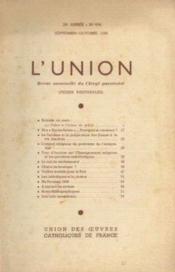 L'union, revue mensuelle du clergé paroissial, 78e année, n°654, septembre octobre - Couverture - Format classique