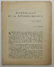Kierkegaard Et La Psychopathologie. - Couverture - Format classique