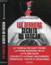 Les derniers secrets du Vatican - Couverture - Format classique